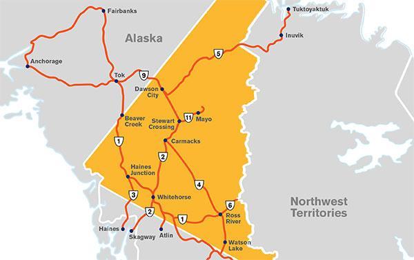 Maps Travel Yukon Media